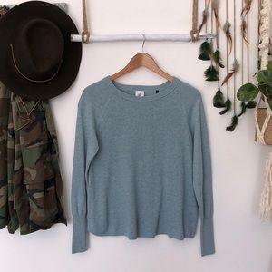 CAbi light blue knit Crew neck sweater size M